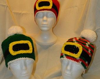 Santa & Helpers Hats - Crocheted - Ready to Ship