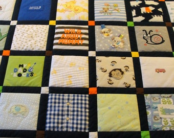Baby Clothes Quilt with Name