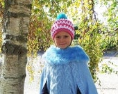 NORDIC RIDGE CROCHET Hat Pattern - Child sizes - Bobble hat pattern Beanie hat crochet pattern Winter hat pattern Usa crochet pattern No.23a
