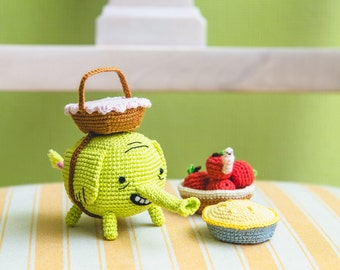 "Crochet Pattern of Tree Trunks from ""Adventure Time"" (Amigurumi tutorial PDF file)"