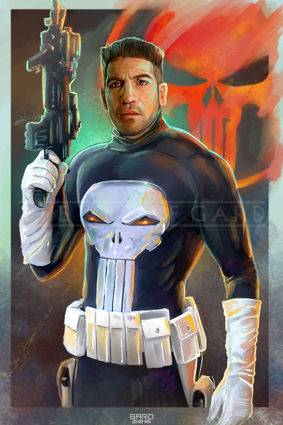 Jon Bernthal as Frank Castle aka The Punisher (11X17 Artist's Print)