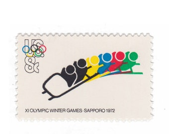 Olympic Games Bobsled - 1972 8c Unused Vintage US Postage Stamp - Pack of 10 - No. 1461