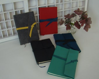 Notebook line A6-different colours-write book handmade leather cover-particular notebook journal