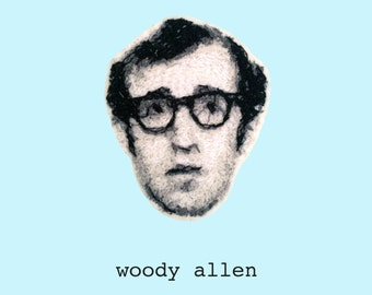 Woody Allen Embroidered Portrait Pin