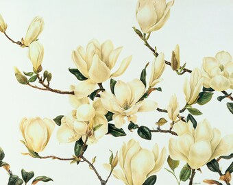 Magnolias-Watercolor print, it will look beautiful in your home