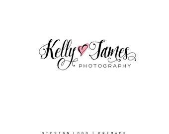 Premade logo Calligraphy Logo Heart Logo  Photography Logo Font Only Logo