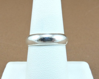 Size 7.5 Sterling Silver 5mm Wide Band Ring