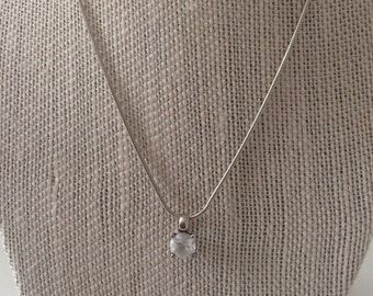 Sterling Silver And 1.25ct Cubic Zirconia Necklace