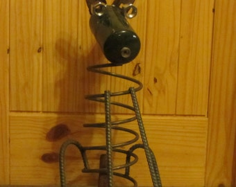 Rustic Metal Dog Sculpture Re purposed and Recycled Metal Art