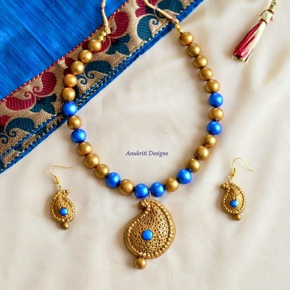 Indian jewelry - Terracotta jewelry - Ethnic jewelry - Jhumkas - Bollywood jewelry - Temple jewelry - Unique gifts - Polymer clay jewelry