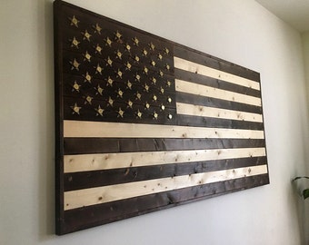 American flags and wall art handcrafted by an by gloryandgrain American flag wood wall art