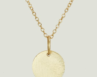 Circle Charm Necklaces , Textured Disc Necklace , Silver Circle Necklace , Round Necklace , Circle Charm Necklace , Circle Pendant Necklace