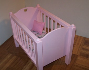 Pink 1:6 Scale Crib/ 1 6 Scale Nursery Furniture/ 1 6 Scale
