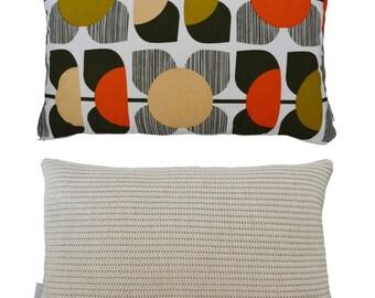 Cushion made using Orla Kiely Square Flower fabric
