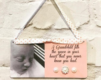 Vintage Style Handmade Photo Plaque for Grandparent's/Mother's Day