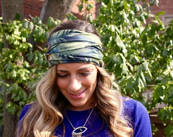 Buy 2 get 1 FREE! Tropical Forest, Yoga Headband, Coachella, Fitness Headband, Workout Headband, ...