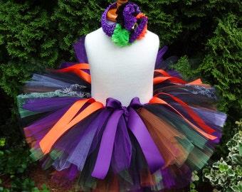 Witch Tutu, Halloween Tutu, Baby Tutu, Purple Orange Tutu, Witch Costume, Halloween Costume, Witch Outfit, Baby Witch Tutu, Toddler Costume