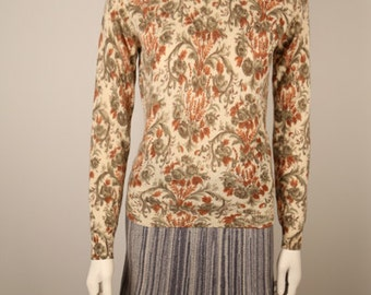1960s Metallic Melange Sweater Skirt