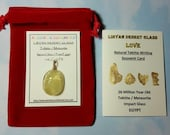HOLD for Kien SCARAB 2nd Payment Option Plan Libyan Desert Glass Tektite (From Egypt) Carving Pendant Only With 14K Gold Fill Loop RARE