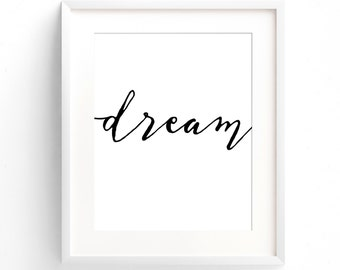 Simply Dream - A4 Print. (in Classic Black and White)