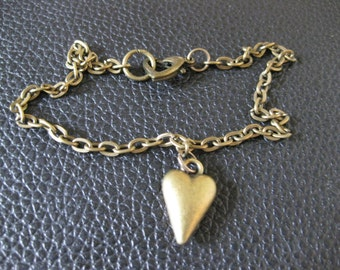Bronze Heart Ankle Bracelet