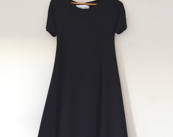Dark Navy Swing Dress w/ Short sleeves