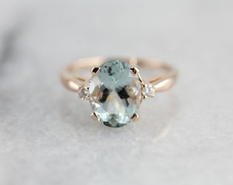 The Ashley Ring in Aquamarine from The Elizabeth Henry Collection 3Y8Y4P-N