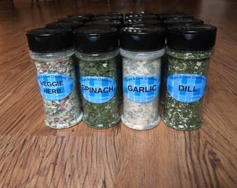 Garlic Seasoning Jar and Vegetable Dip Mix