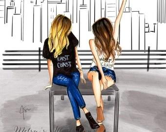Cityscape (Fashion Illustration Print)