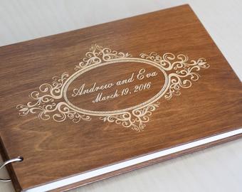 Wedding Guest Book, Rustic Wedding Guest book, Guest Book Personalized, Custom Guest Book