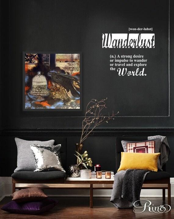 Wanderlust Wall Art Vinyl Wall Decal Sticker Home Decor