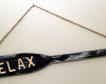 Distressed Oar Paddle Wall Decoration