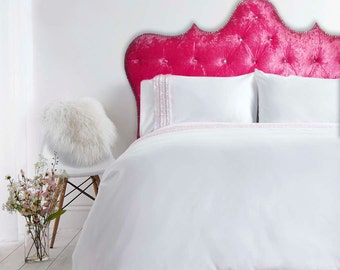 tufted headboard with nail accent border isabelle