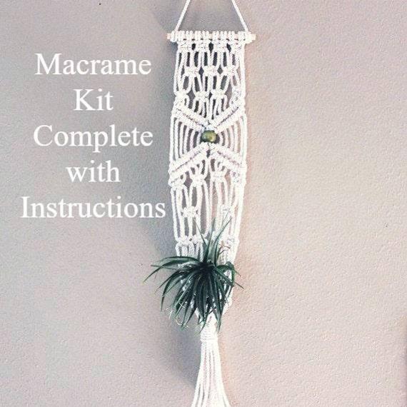 Sale Macrame Plant Hanger Kit Craft Kit Instructions