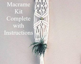 Macrame Plant Hanger Kit, Craft kit,  Macrame Hanging kit, Mini Macrame Wall Hanging kit, Macrame diy, Macrame kit, Macrame how to
