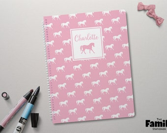 Personalized Notebook, Custom Journal, Lined Notebook, Pony Notebook, Horse Journal, Spiral Notebook, Back To School Supplies, TFS/NB001