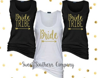 Bride Tribe Tank Tops - Wedding and Bachelorette Party Shirts - Bride's Tribe