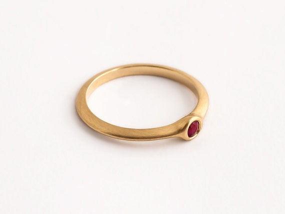 Small Ruby Ring Simple Ring for Women Ruby Engagement Ring