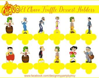 EL CHAVO, El Chavo del 8, El Chavo Party Favors, El Chavo Forminhas, El Chavo Party Supply, El Chavo Candy Holders, El Chavo Chocolate Cups.