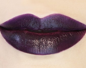 Entropy - Vegan Dark Purple Lipstick vegan vegan makeup vegan lipstick deep purple lipstick purple lipstick potions cosmetics plum lipstick