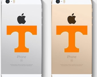 Tennessee decal, Power T decal, football decal, cell phone decal, FREE SHIPPING, Orange decal, White vinyl decal, laptop decal #239
