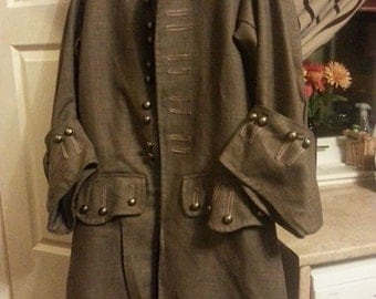 captain jack sparrow inspired dress coat