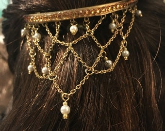 Belle Hair Adornment and earrings
