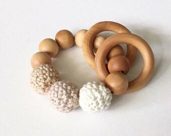 Montessori Style Crochet Beaded Rattle Teether