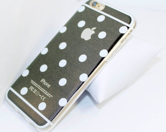 Polka Dots Shiny Soft Gel iPhone 6 Case