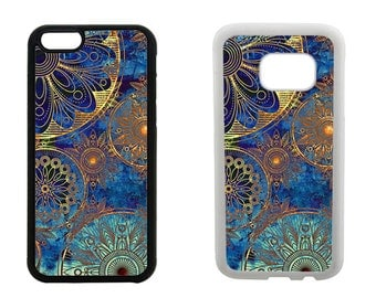 Rubber case, iPhone 8 7 6 6S Plus, X SE 5C 5S 5 4S, Samsung Galaxy S8 Plus, S7 S6 Edge, S4 S5, Note 5 Mandala vintage bumper phone case R223