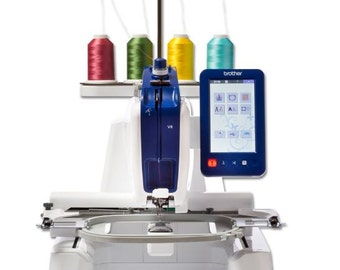 Brother VR Embroidery machine with free-arm embroidery and free-motion sewing capability.