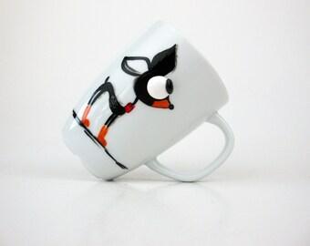 Chihuahua Coffee Mug, Chihuahua Mug with 3D Eyes, Hand painted  Chihuahua Mug, Two Sided Coffee Mug, Dog Lover Gift Idea,