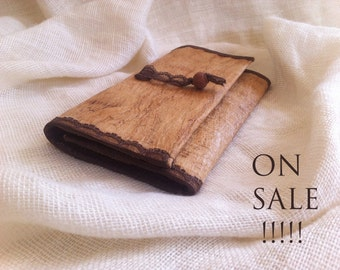 ON SALE Christams sale . Purse made from unique wood fibers sheets