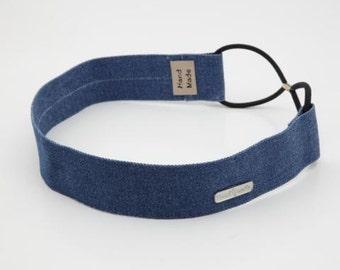 Denim Jean Simple Elastic Headband Women Adult Fashion Headband